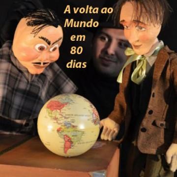 Teatro de Bonecos - A volta ao mundo em 80 dias - Cia. Articularte